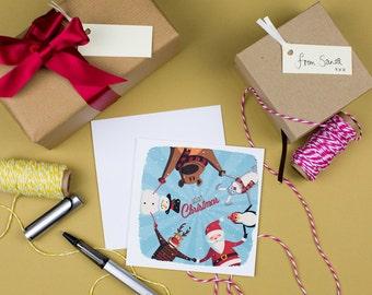 SALE Christmas Characters Card - Xmas Winter Buddies