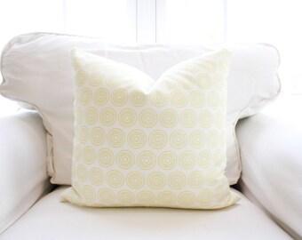 S A L E   Zesty Vibes Pillow Cover   Dots   Circles   Yellow   Geometric   18x18