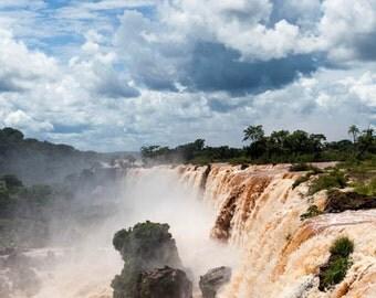 Brazil, Iguazu Falls, waterfall, ladscape photography, Brazil photography, large wall art print, professional photo, fine art #022