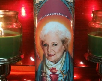 Golden Girls - Rose Nyland - Celebrity Saint Candle - Church Window frame