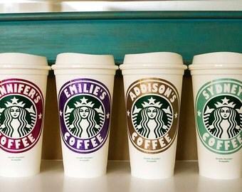 Personalized Reusuable Starbucks Cup, Starbucks Cup, Personalized Starbucks Cup