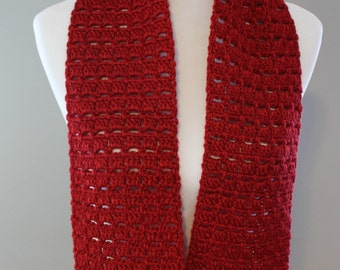 Redwood Box Crochet Scarf, Made in USA