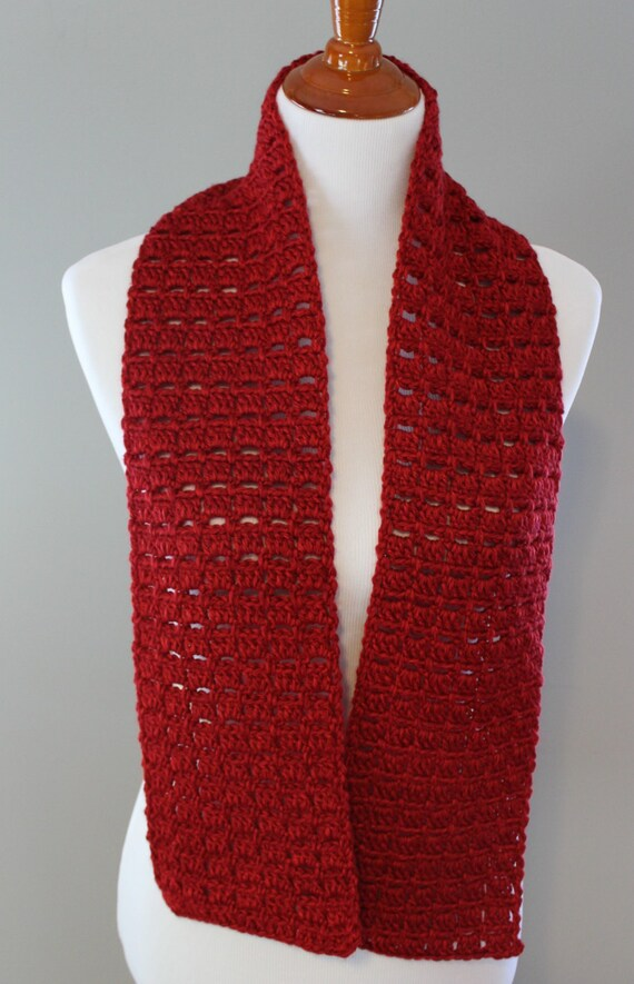 redwood box crochet scarf made in usa