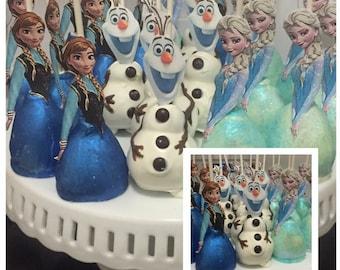 FROZEN Themed Cake Pops