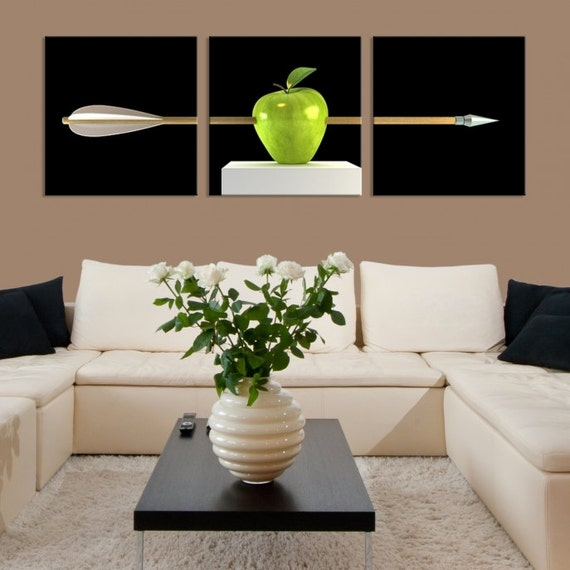 extra large wall art close up green apple photo framed canvas. Black Bedroom Furniture Sets. Home Design Ideas