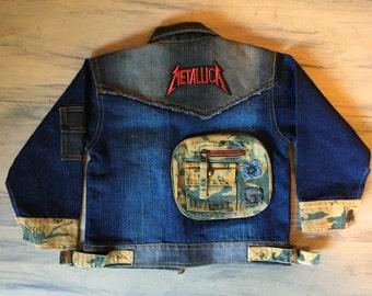 Metallica Rocker Denim, Rock n Roll , Punk Rock, Jean jacket, 18M