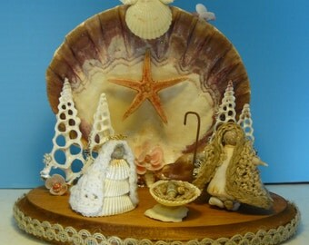 Shell Nativity, Christmas Nativity, Manager, Baby Jesus