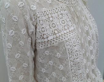 Beautiful Edwardian lace blouse antique vintage