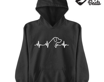 Labrador heartbeat Hoodie | Unisex Hoodie | Dog lovers gift | Labrador Retriever hoodie  | Parcel WILL NOT arrive in time for Xmas
