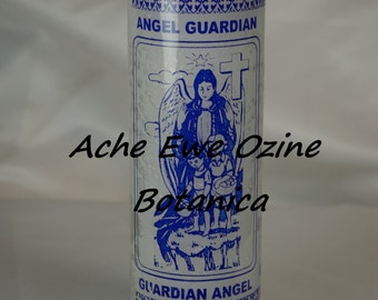 Guardian Angel Candle White, Angel Guardian Vela