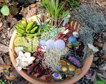 Fairy Garden Kit, Fairy Garden Accessories, Fairy Kit, Fairy House Kit, Miniature Garden Supplies, Terrarium Kit, Miniature Garden Items