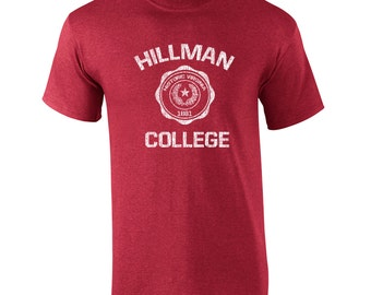 Hillman College funny 80s tv show costume comedy retro vintage - Apparel Clothing - Mens T-shirt - 275