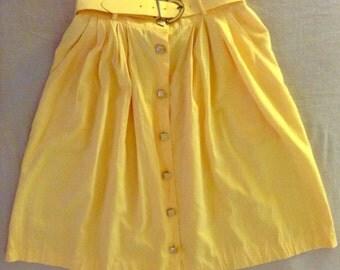 Vintage Belted Skirt