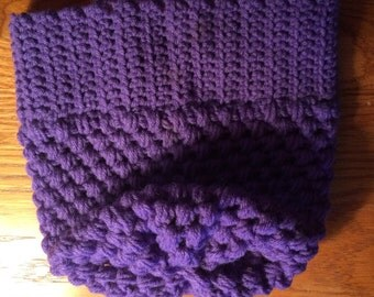 Purple slouchy hat