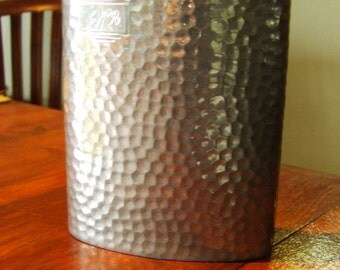 PEWTER WHISKY FLASK ~ Made in England