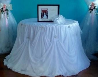 Cinderella Tableskirt, Cinderella Tablecloth, Cinderella Wedding,