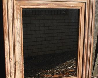Rustic Timber Mirror