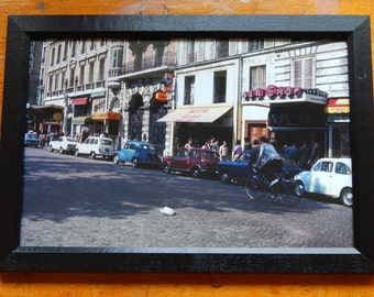 Brussels Belgium Red Light District (ca.1965) Framed 8x12 Print