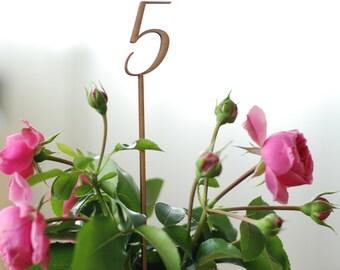 Table numbers, Wedding table numbers, Blank table numbers, DIY party, Rustic wedding decor, Lasercut wood numbers, TN-5
