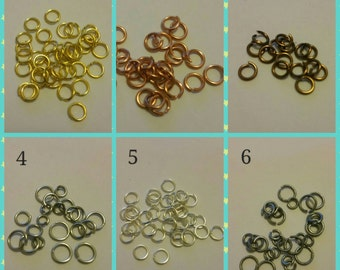 100 0.6mm Jump Rings Links. Choose Size and Colour.