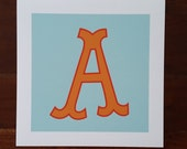 Letter A Archival Print