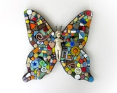 Mosaic Butterfly. (An Original Handmade Mixed Media Mosaic Assemblage Wall Hanging by Shawn DuBois)