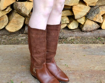 Brown Riding Boots, Womens Us 7, Uk 5, Eu 37, Brown Suede Boots, Brown Leather Boots, Tall Suede Boots, Suede Riding Boots, Womens Boots