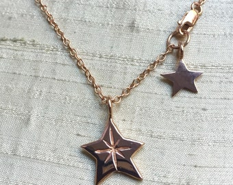 Rose Gold Plated Pink Silver- The Radiant Star Necklace