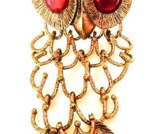 Vintage Owl Pin or Pendant 1960s