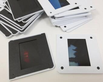 40 Black & White Photo Slide Mounts, 35mm Color Film Negative Slides with Plastic Frames