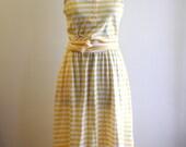 Cotton knit 70s / 80s striped sundress by Gloria Vanderbilt sz. Small / Medium
