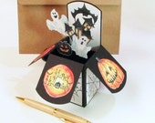 Halloween Greeting Card - Pop Up Card In Box - Gift Card Holder - Trick or Treat - Halloween Decor - Dorm Decoration