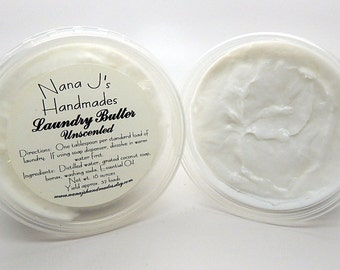 Handmade Laundry Butter/Laundry Soap/Laundry Butter/Household Cleanser/Eco Friendly/Unscented/Natural Laundry Butter/Cleaning Supplies