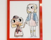 Stranger Things (E.T. and Eleven) Print