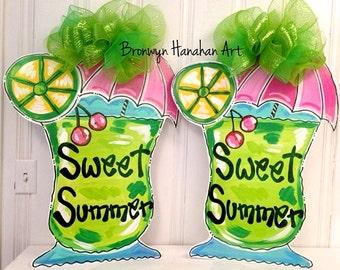 Sweet Summer Beverage Door Hanger - Bronwyn Hanahan Original