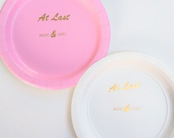 Wedding shower plates   -set of 10