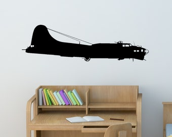 Boeing Wall Decal Etsy - Vinyl wall decals airplane