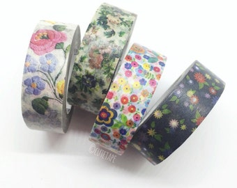 Japanese Pretty Washi Tape gift set of 4 (floral)