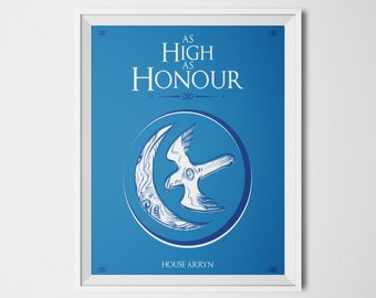 Game of Thrones Sigil House Arryn Game of Thrones Banner Game of Thrones Houses Home Decor A3 print 11x14 print Game of Thrones Poster