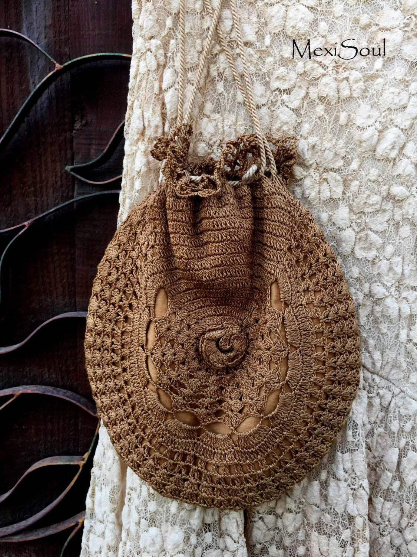Vintage Wedding Crochet Sachel Bag Something Old by MexiSoul