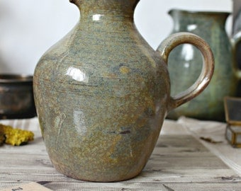 French vintage sandstone pitcher jug authentic french country shabby chic decoration retro collection