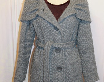 """Grey coat with belt and hood """"Relativity"""" Size Small"""