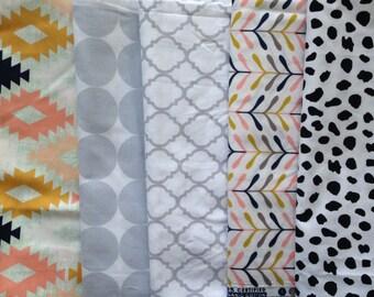 Custom Gender Neutral Burp Cloth Set of 2