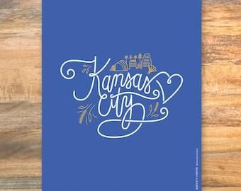 Kansas City love letters art print // Kansas City Wall art // Kansas City decor