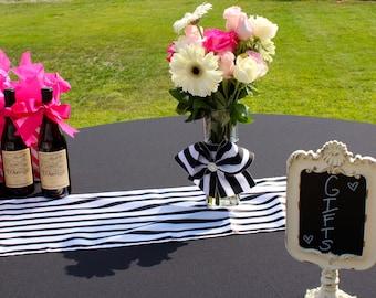 Wedding Vase - Vase with Bow - Wedding Centerpiece