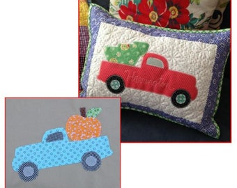 Little Vintage Pickup Truck Raw Edge Applique Templates and Instructions