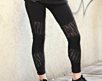 Black Leggings, Sheer Leggings, Hooping Clothing, Festival Wear