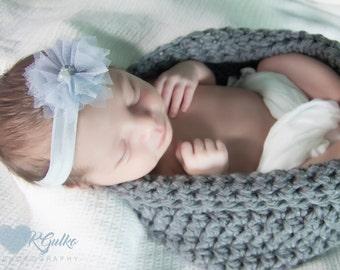 Crochet Baby Cocoon, Newborn Baby Cocoon, Grey Baby Cocoon, Newborn Photo Prop