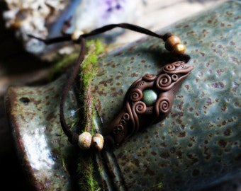 Clay Earth Medicine Bracelet.. Clay with Healing Gemstone and Crystal Jewelry.