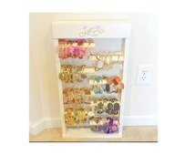 """Jewelry Organizer - Extra Tall """"BANGLE BOX"""" Bracelet Holder and Organizer for home or retail - Small Footprint - 30+ Colors Available"""